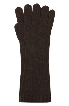 Женские кашемировые перчатки RALPH LAUREN коричневого цвета, арт. 290840294 | Фото 1