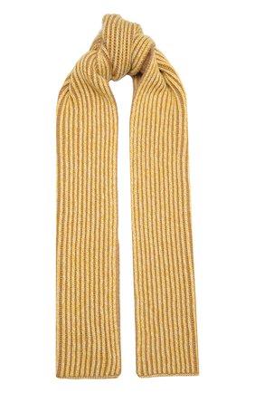 Мужские кашемировый шарф LORO PIANA желтого цвета, арт. FAL4379 | Фото 1