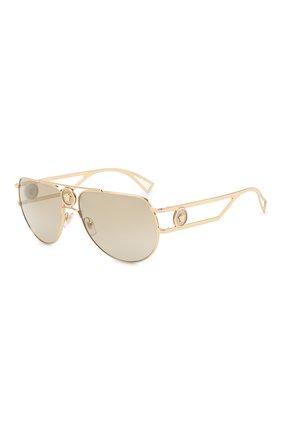 Женские солнцезащитные очки VERSACE золотого цвета, арт. 2225-10027I | Фото 1