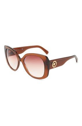 Женские солнцезащитные очки VERSACE коричневого цвета, арт. 4387-53240P   Фото 1