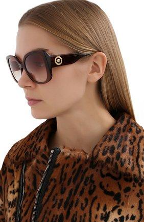 Женские солнцезащитные очки VERSACE коричневого цвета, арт. 4387-53240P   Фото 2