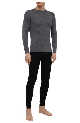 Мужская шерстяной лонгслив NORVEG серого цвета, арт. 14SM1RLRU-014 | Фото 2