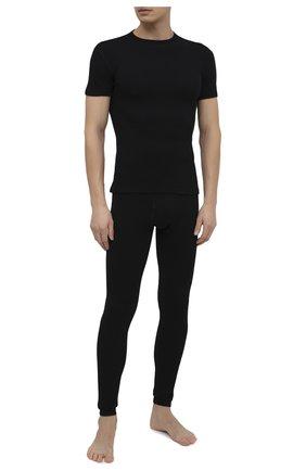 Мужская шерстяная футболка NORVEG черного цвета, арт. 14SM3RSRU-002 | Фото 2
