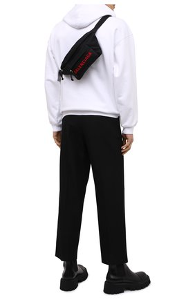 Мужская текстильная поясная сумка wheel BALENCIAGA черного цвета, арт. 533009/H858X | Фото 2