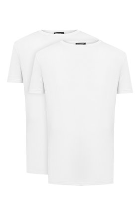 Мужская комплект из двух футболок DSQUARED2 белого цвета, арт. DCX200050   Фото 1
