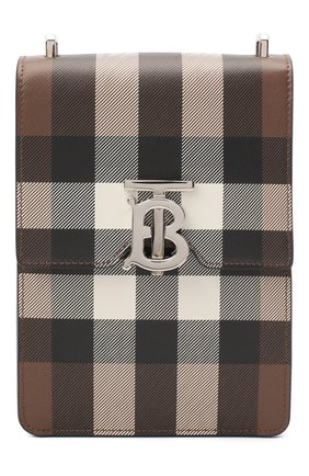 Мужская кожаная сумка BURBERRY бежевого цвета, арт. 8035779 | Фото 1