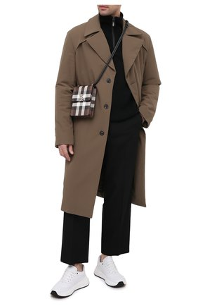Мужская кожаная сумка BURBERRY бежевого цвета, арт. 8035779 | Фото 2