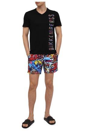 Мужская хлопковая футболка DIRK BIKKEMBERGS черного цвета, арт. VBKB04896 | Фото 2