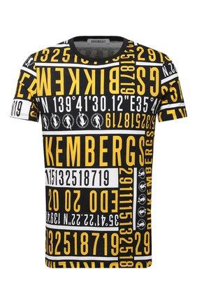 Мужская хлопковая футболка DIRK BIKKEMBERGS желтого цвета, арт. VBKB04903 | Фото 1