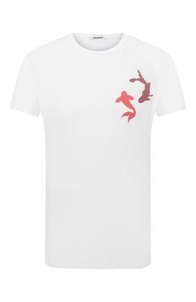 Мужская хлопковая футболка DIRK BIKKEMBERGS белого цвета, арт. VBKB04917 | Фото 1