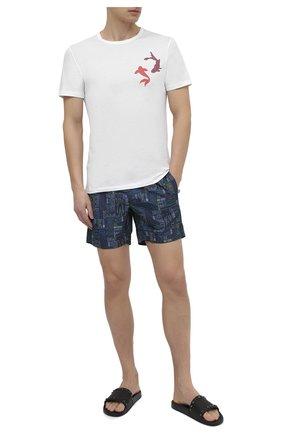 Мужская хлопковая футболка DIRK BIKKEMBERGS белого цвета, арт. VBKB04917 | Фото 2
