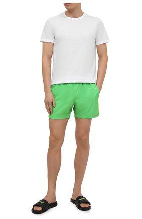 Мужские плавки-шорты DIRK BIKKEMBERGS зеленого цвета, арт. VBKB04926   Фото 2