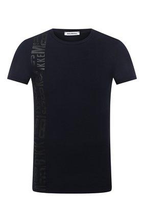 Мужская хлопковая футболка DIRK BIKKEMBERGS темно-синего цвета, арт. VBKT04989 | Фото 1