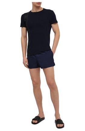 Мужская хлопковая футболка DIRK BIKKEMBERGS темно-синего цвета, арт. VBKT04989 | Фото 2
