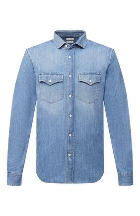 Мужская джинсовая рубашка BRUNELLO CUCINELLI синего цвета, арт. ME6453039 | Фото 1