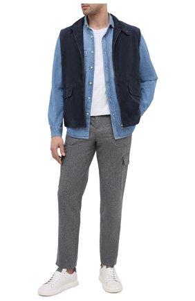 Мужская джинсовая рубашка BRUNELLO CUCINELLI синего цвета, арт. ME6453039 | Фото 2