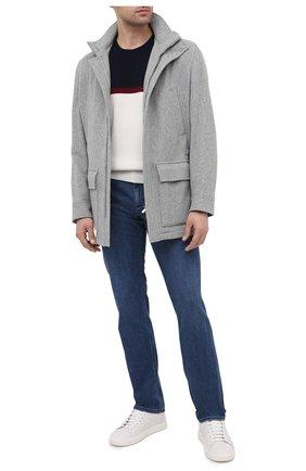 Мужской кашемировый свитер BRUNELLO CUCINELLI белого цвета, арт. M2217400 | Фото 2