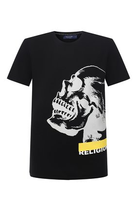 Мужская хлопковая футболка RELIGION черного цвета, арт. 30BGNN96   Фото 1
