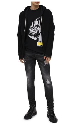 Мужская хлопковая футболка RELIGION черного цвета, арт. 30BGNN96   Фото 2