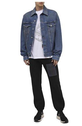 Мужская хлопковая футболка RELIGION белого цвета, арт. 30BGNN96   Фото 2 (Рукава: Короткие; Материал внешний: Хлопок; Длина (для топов): Стандартные; Стили: Панк; Мужское Кросс-КТ: Футболка-одежда; Принт: С принтом)