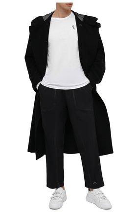 Мужская хлопковый лонгслив RELIGION белого цвета, арт. MCPPLN08 | Фото 2