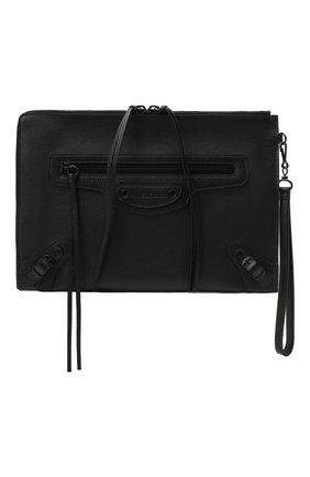 Мужская кожаный футляр для документов BALENCIAGA черного цвета, арт. 640114/15Y07 | Фото 1