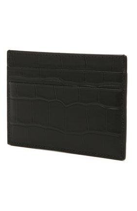 Мужской кожаный футляр для кредитных карт BALENCIAGA черного цвета, арт. 594309/1R0P3 | Фото 2