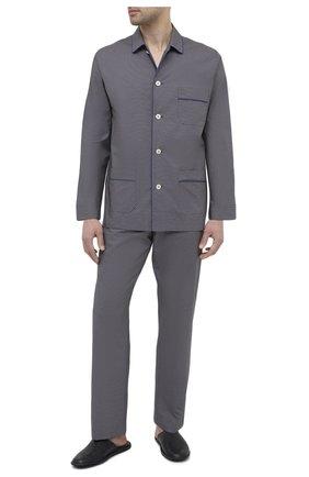 Мужская хлопковая пижама ROBERTO RICETTI темно-синего цвета, арт. PIGIAMA VENEZIA LUNG0/LX2512 | Фото 1