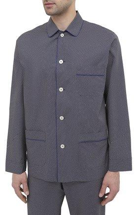 Мужская хлопковая пижама ROBERTO RICETTI темно-синего цвета, арт. PIGIAMA VENEZIA LUNG0/LX2512 | Фото 2
