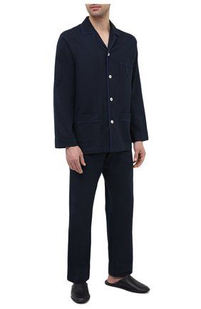 Мужская хлопковая пижама ROBERTO RICETTI темно-синего цвета, арт. PIGIAMA VENEZIA LUNG0/LX2504 | Фото 1