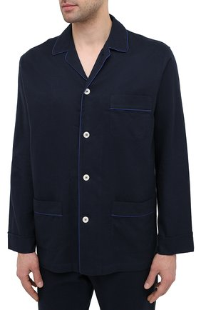 Мужская хлопковая пижама ROBERTO RICETTI темно-синего цвета, арт. PIGIAMA VENEZIA LUNG0/LX2504 | Фото 2