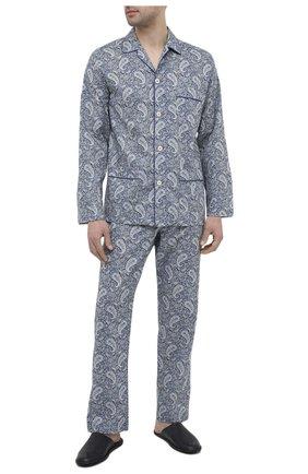 Мужская хлопковая пижама ROBERTO RICETTI синего цвета, арт. PIGIAMA VENEZIA LUNG0/0R02501 | Фото 1