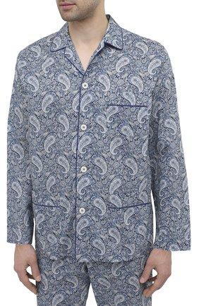 Мужская хлопковая пижама ROBERTO RICETTI синего цвета, арт. PIGIAMA VENEZIA LUNG0/0R02501 | Фото 2