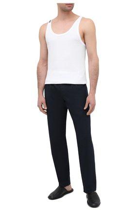Мужские хлопковые домашние брюки ROBERTO RICETTI синего цвета, арт. PANTAPA PIGIAMA/LX2504 | Фото 2