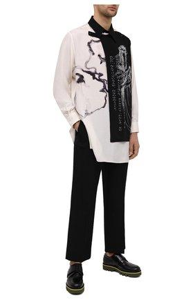 Мужской кожаные дерби DRIES VAN NOTEN черного цвета, арт. MW28/008/QU122 | Фото 2