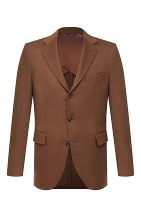 Мужской кашемировый пиджак LORO PIANA коричневого цвета, арт. FAL4276 | Фото 1