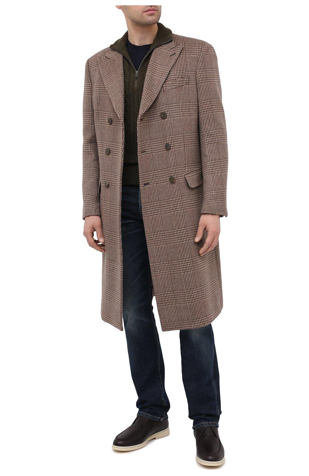 Мужские кожаные ботинки walk and walk wintery LORO PIANA темно-коричневого цвета, арт. FAL4244   Фото 2