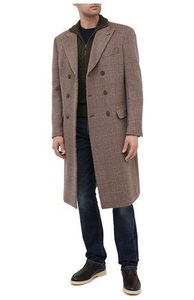 Мужские кожаные ботинки walk and walk wintery LORO PIANA темно-коричневого цвета, арт. FAL4244 | Фото 2