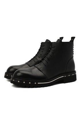 Мужские кожаные ботинки ATTIMONELLI'S черного цвета, арт. AA448V | Фото 1
