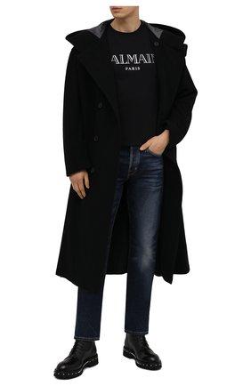 Мужские кожаные ботинки ATTIMONELLI'S черного цвета, арт. AA448V | Фото 2