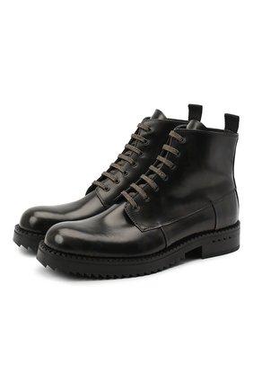 Мужские кожаные ботинки ATTIMONELLI'S хаки цвета, арт. AA467 | Фото 1