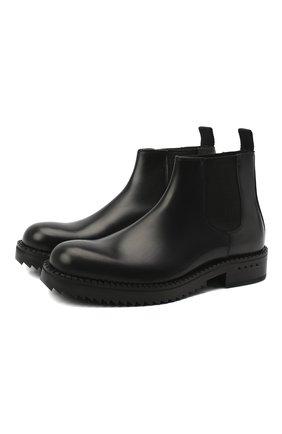 Мужские кожаные челси ATTIMONELLI'S черного цвета, арт. AA476 | Фото 1