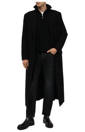 Мужские кожаные челси ATTIMONELLI'S черного цвета, арт. AA476 | Фото 2