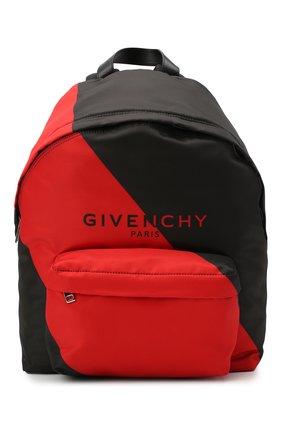 Мужской текстильный рюкзак GIVENCHY красного цвета, арт. BK500JK10C | Фото 1