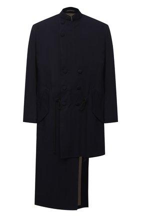 Мужской пальто из шерсти и вискозы YOHJI YAMAMOTO черного цвета, арт. HR-J40-869 | Фото 1