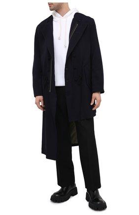Мужской пальто из шерсти и вискозы YOHJI YAMAMOTO черного цвета, арт. HR-J40-869 | Фото 2