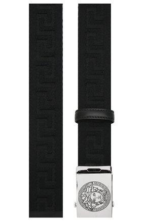 Мужской ремень VERSACE черного цвета, арт. DCU8236/DNAS67 | Фото 2