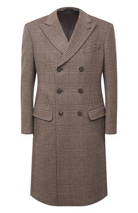 Мужской кашемировое пальто GIORGIO ARMANI коричневого цвета, арт. 0WG0L05Q/T01ZU | Фото 1