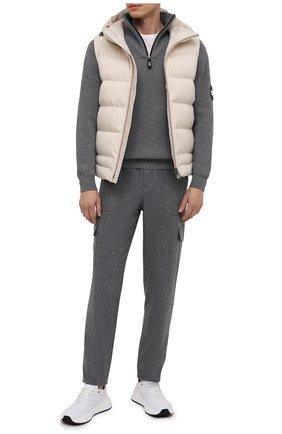 Мужской свитер из шерсти и кашемира GIORGIO ARMANI серого цвета, арт. 6HSMG1/SM77Z   Фото 2