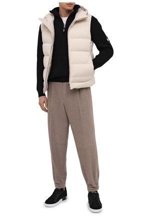 Мужской свитер из шерсти и кашемира GIORGIO ARMANI черного цвета, арт. 6HSMG1/SM77Z   Фото 2